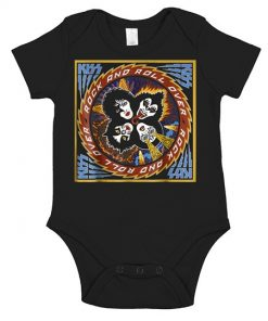Kiss 1976 Rock Roll Over Onesie
