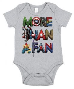 Avengers More Than A Fan Word Stack Onesie