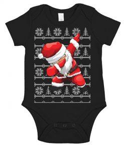 Ugly Christmas Santa Dabbing Onesie